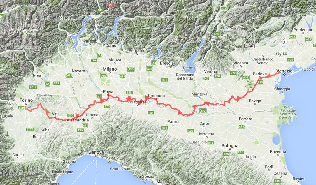 Mappa dell'intero percorso